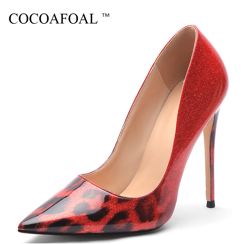 COCOAFOAL Luipaard Gold women High heels Women's shoes Wedding shoes Pumps Plus Size Fashion Sexy Red Punctual Teens Pumps