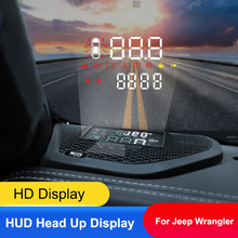 QHCP Auto Head Up Display HD Schermo Del Proiettore HUD Velocità Eccessiva Allarme Rivelatore Nascosto Multifunzione Per Jeep Wrangler 18 JL 19