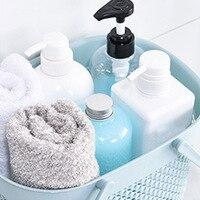 Portable Bath Laundry Basket Bathroom Toiletries Storage Basket Plastic Box @LS Bath Baskets     -