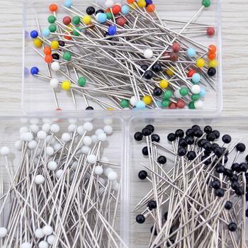 100 sztuk pudło kwiaciarnie szpilka do szycia głowa perły na stanik wesela materiały plastikowe stal nierdzewna przyrządy do szycia uniwersalny tanie i dobre opinie CN (pochodzenie) Tak ( 50 sztuk) Proste Szpilki Plastic Stainless Steel