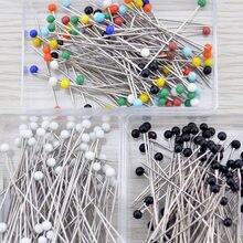100 sztuk/pudło kwiaciarnie szpilka do szycia głowa perły na stanik wesela materiały plastikowe/stal nierdzewna przyrządy do szycia uniwersalny