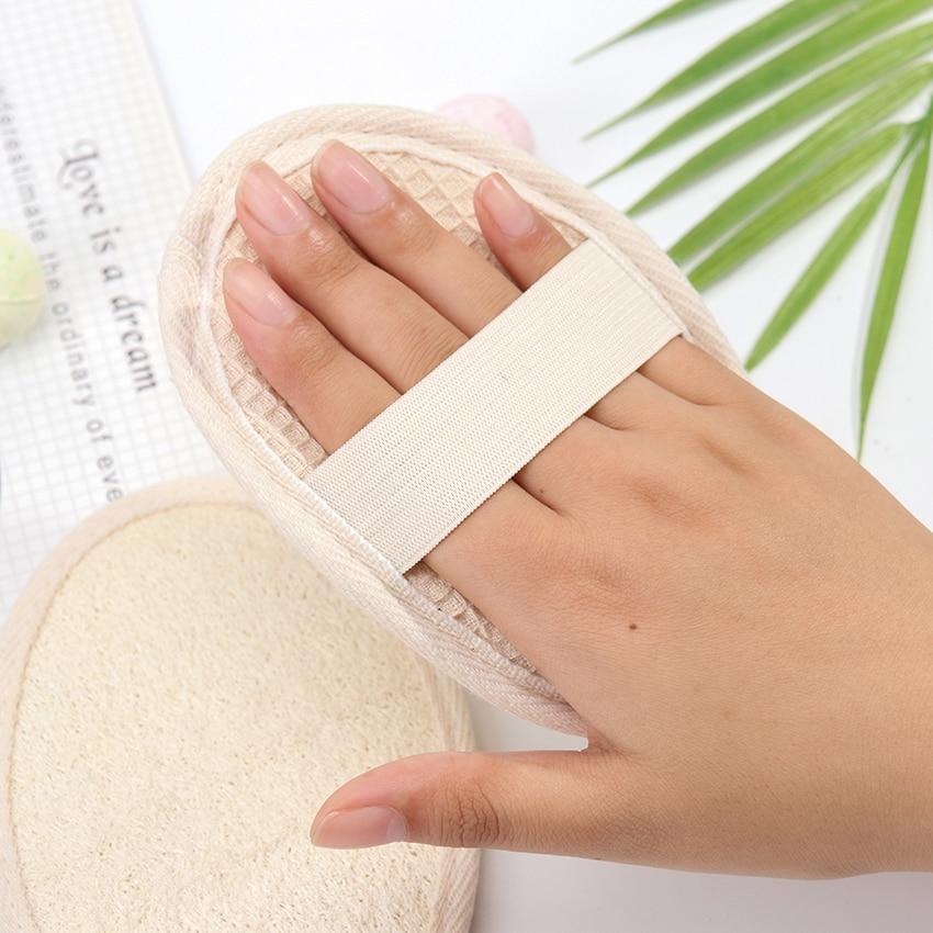 1PC Loofah Bath Shower Sponge Body Scrubber Sponge Scrub Handle Shower Massage Brush Skin Body Washing Accessories 5