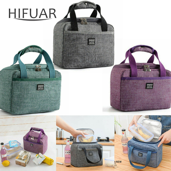 2020 Portable New Thermal Insulated Lunch Box Tote Cooler Handbag Bento Pouch Dinner Container School Food Storage Bags food container picnic outdoor handbag cooler bento pouch camping insulated oxford cloth tote portable lunch bag carrying school