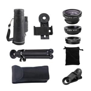 Image 5 - 40X Zoom télescope téléobjectif téléphone portable caméra objectif Smartphones lentilles + 3in1 Fisheye grand Angle Macro Lentes pour iPhone 11