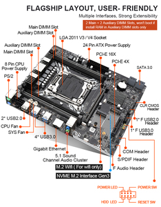Image 4 - Kllisre X99 anakart set Xeon E5 2678 V3 LGA2011 3 CPU 2 adet X 8GB = 16GB 2666MHz DDR4 bellek