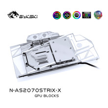 Bykski – carte graphique de jeu ASUS ROG STRIX RTX 2070 O8G/2060 O6G, bloc d'eau VGA, Compatible