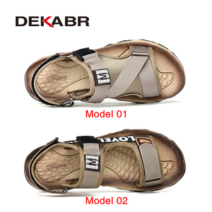 Image 2 - DEKABR Spring Summer Men Sandals Top Quality Casual Shoes Man Quality Design Outdoor Beach Sandals Roman Style Water Sneakers