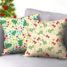 Цветной чехол для подушки с изображением рождественской елки