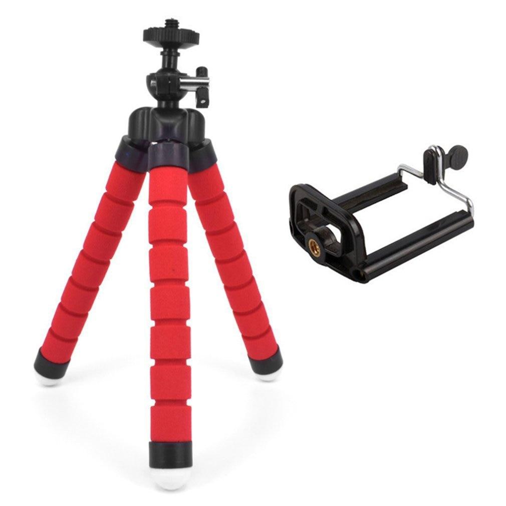 Nova esponja flexível polvo mini tripé flexível tripé de telefone para iphone mini câmera tripé suporte do telefone clipe 3