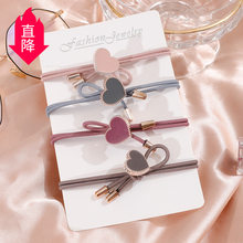 Korean-style Adult Women's Heart Hair Band Simple INS for Tying Hair Headband 2 Yuan Supply of Goods Hairband Hair Band Hair Acc(China)