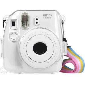 Protect-Bag Cover Instant-Camera 9-Case Transparent Waterlowrie Plastic with Strap