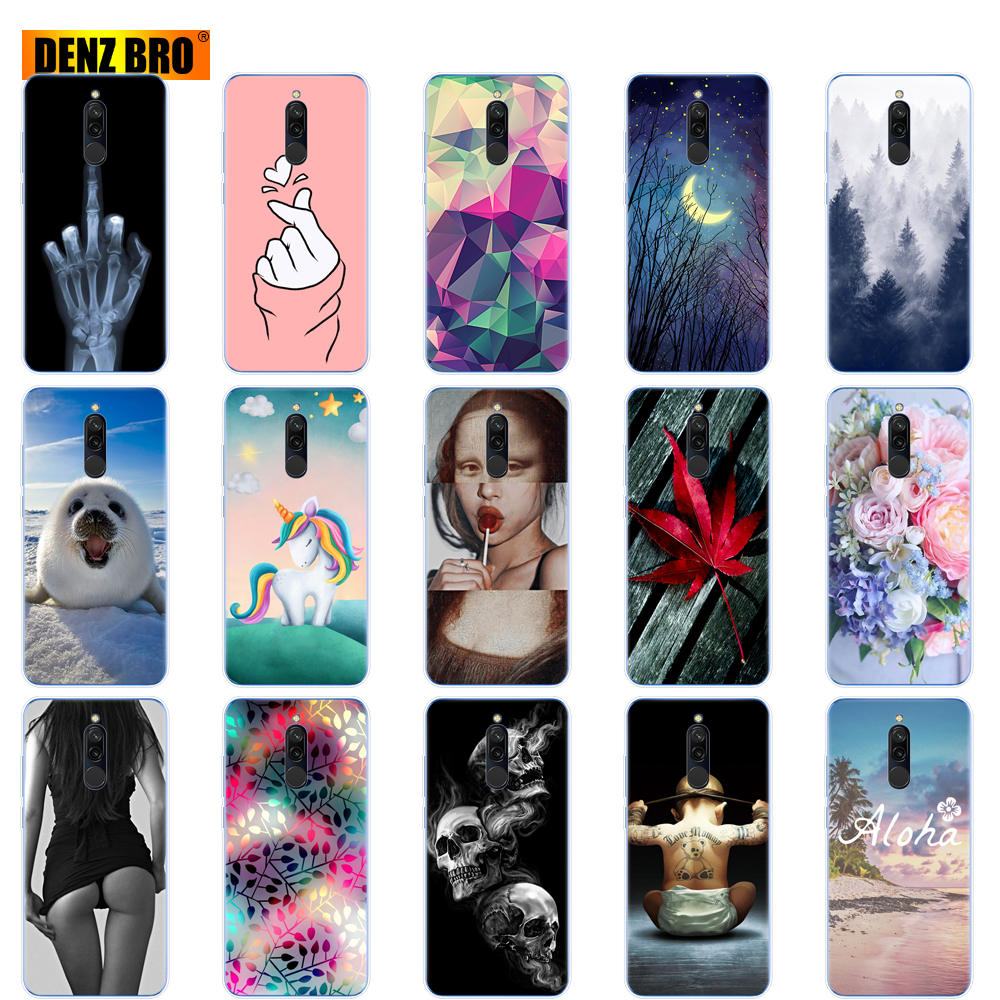 silicon case for xiaomi redmi 8 Cases full protection soft tpu back cover on redmi 8 bumper hongmi 8 phone shell Painting coque