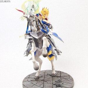 Image 4 - Figura de acción de Anime de 45cm, figura de Altria, Pendragon, FGO, sable, Lancer, Gunman a caballo, figura decorativa de PVC
