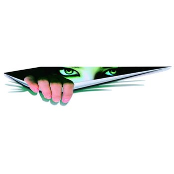 New Personality Three-dimensional Car Sticker Car Styling Decoration with Simulation Eye Peeking Pattern 13*41cm image