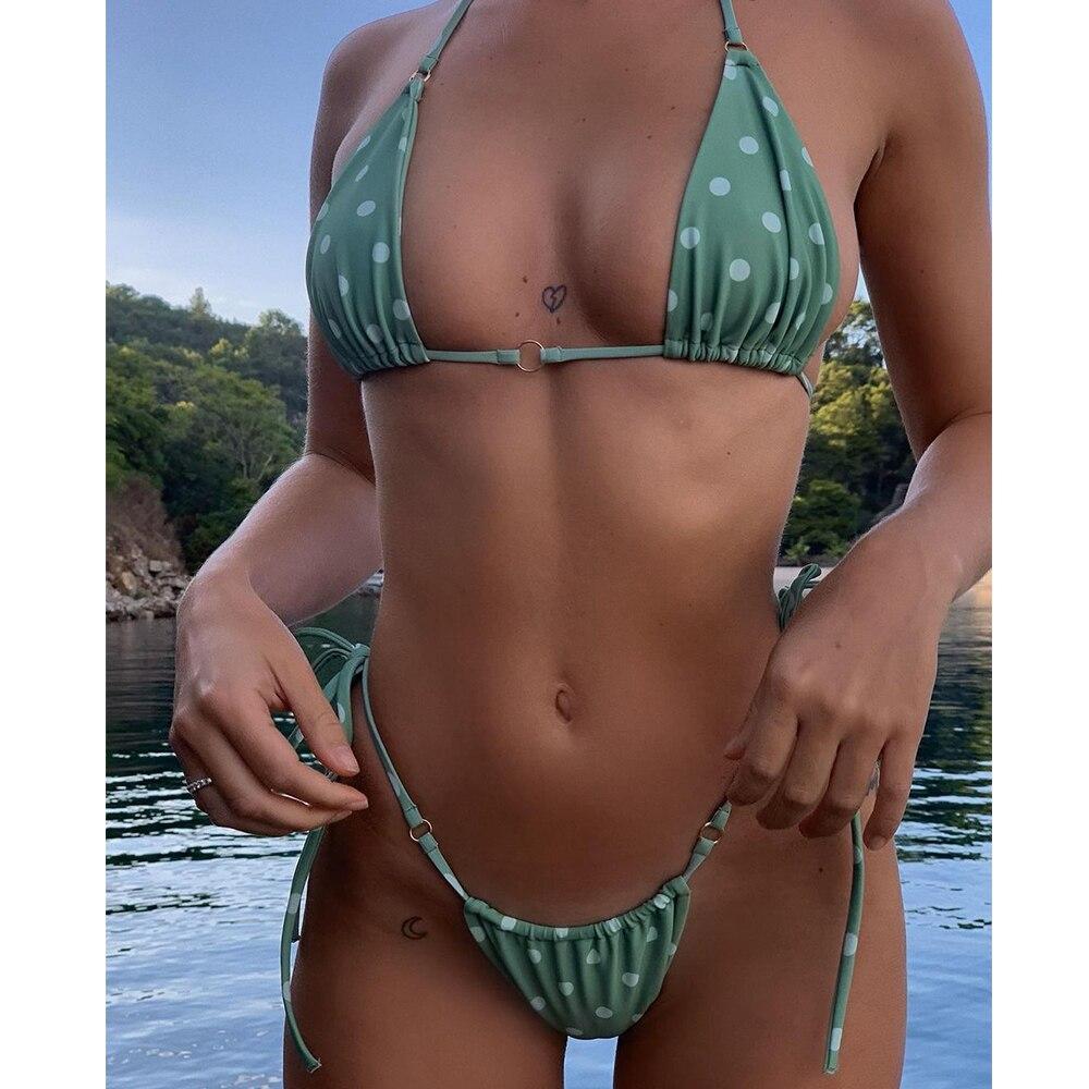 Sexy Bikini Women 2021 Swimsuit Halter Push Up Swimwear Female Brazilian Bathing Suit Summer Beach Wear Swimming Suit Biquini XL