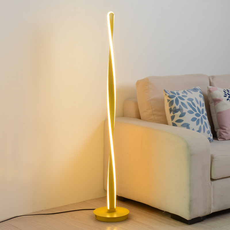 Design Nordic Led floor lamp black white gold standing floor lamps Corner floor lamp for living room bedroom home decor|Floor Lamps|   - AliExpress