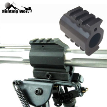 Tactical 0.75'' Low Profile Gas Block Top & Bottom Picatinny Rail Mount for Hunting Airsoft