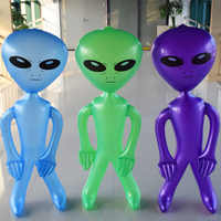Inflatable Green Aliens PVC Model Bluish Purple Cartoon Doll Hotel Party Advertising Materials Customizable