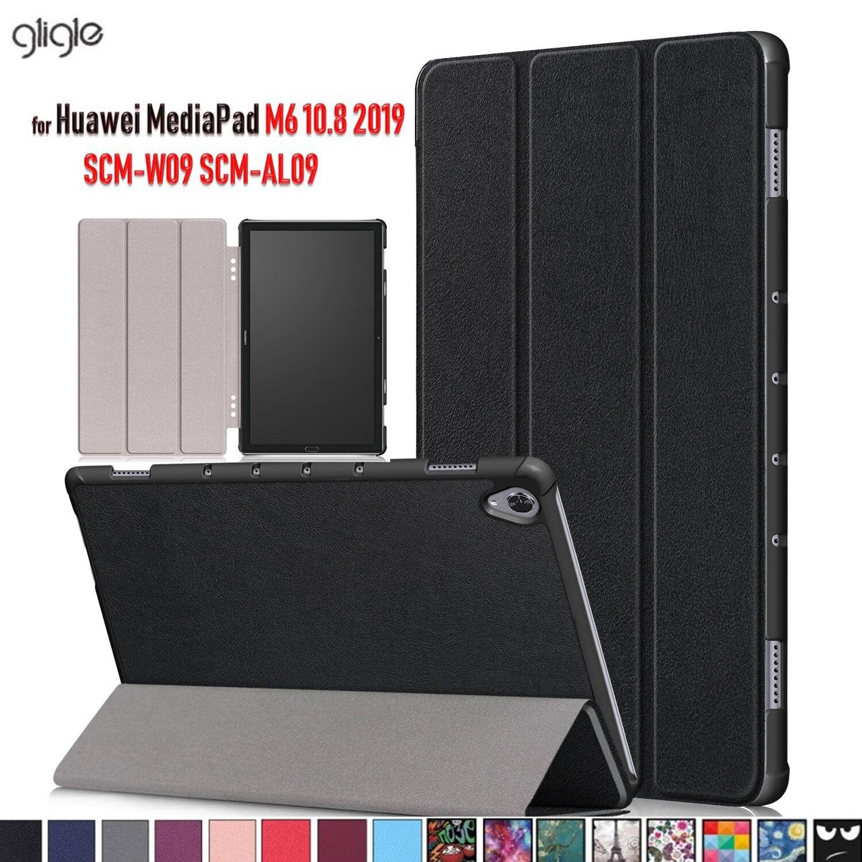 Магнитный кожаный чехол GLIGLE для Huawei MediaPad M6 10,8 2019, чехол для планшета + пленка для экрана + сенсорная ручка, бесплатная доставка