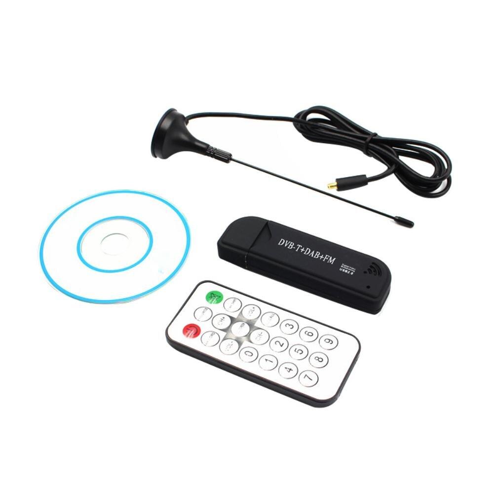 Новый USB2.0 цифровой DVB-T SDR + DAB + FM ТВ-тюнер приемник SDR TV Stick RTL2832U + FC0012 цифровая видеозапись в реальном времени