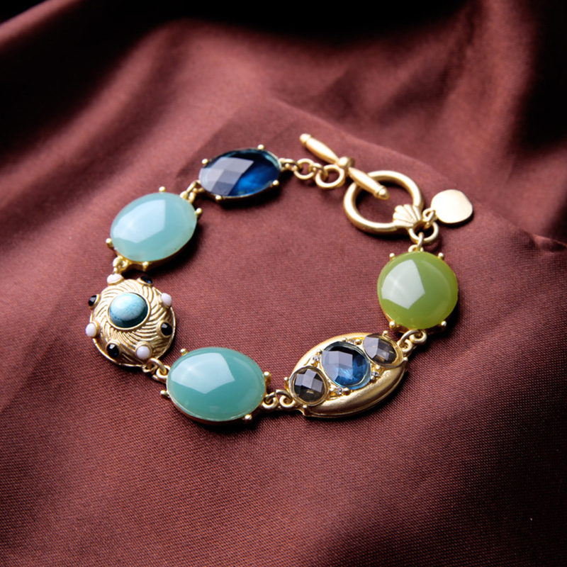 Ocean Style Summer Charm Bracelets For Girls Women Round Resin Light Blue Color Beautiful Inspiration Fashion Jewelry Wholesale