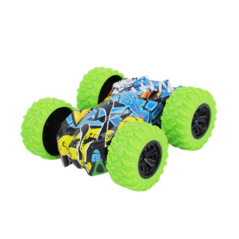 Car Toy Kids Pull Back Vehicle Stunt Double Sided Rotating Tumbling Inertia Graffiti Car Off Road Model Toy машина juguetes image