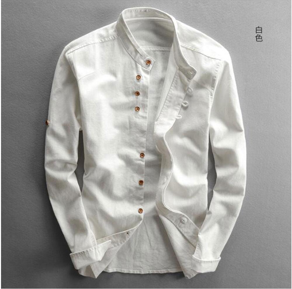 Hcd2b646a5fec415aab62d78a5194c7a7C New sexy Men's Cotton Linen Shirts Long Sleeve Men Casual Slim Mandarin Collar Shirts Summer Beach Shirt plus size 6xl