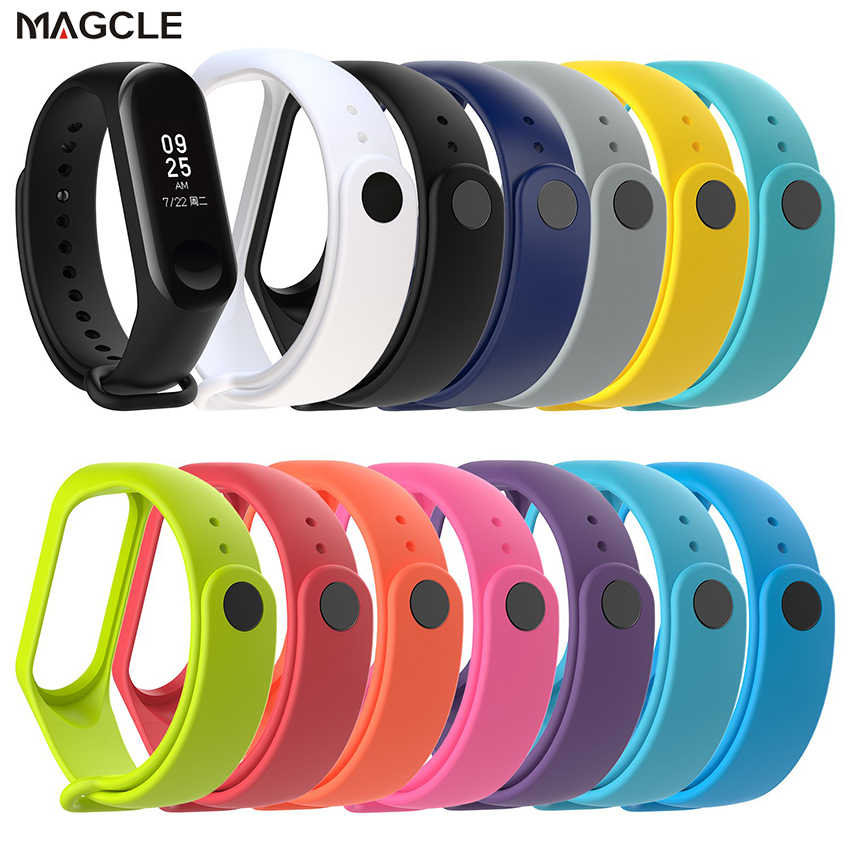 Colorful Silicone Watch strap For Xiaomi Band 4 3 Bracelet for Mi band 3 4 Smart Watch Replacement Wristband for mi band 4 3 Str