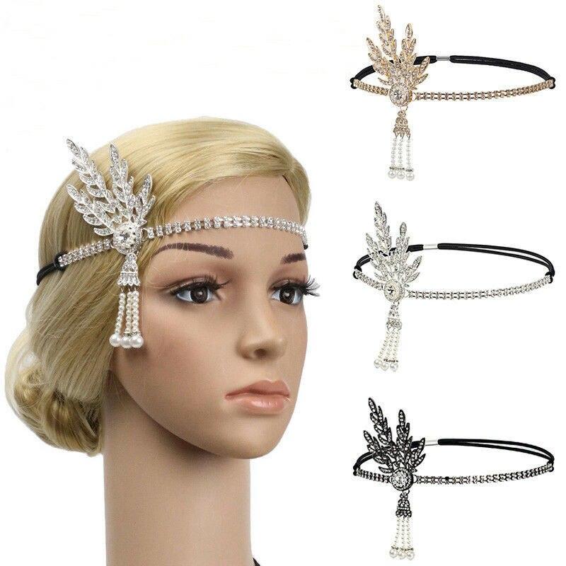 Новинка, повязка на голову Great Gatsby, шапка для волос 1920 года, серебряная, слоновая кость, Маргаритка, винтажная, Flapper Great Gatsby Flapper, костюм, платье,...