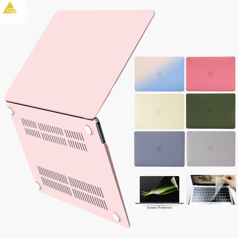 Laptop Case For MacBook Air 13 Pro 15 Pro 13 Touch Bar A1706 A1708 A1989 A2159 For Macbook Touch ID Air 13 A1932 +Keyboard Cover