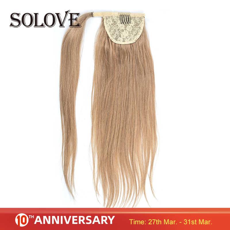 Pferdeschwanz Menschliches Haar Maschine Remy Gerade Europäischen Pferdeschwanz Frisuren 80g 100% Natürliche Haar Clip in Extensions