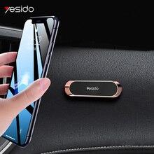 Yesido Mini support de téléphone de voiture magnétique bande forme support pour iPhone Samsung Xiaomi huawei métal aimant GPS voiture montage tableau de bord