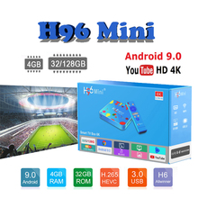 2019 Newest tv box Allwinner H6 Quad core 6K H.265 H96 Mini Android 9.0 boxes 4GB 32GB/128GB set top iptv italia