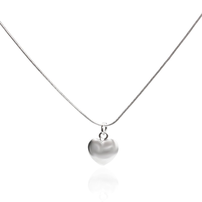 Hcd2c1177f4a547489f438bc00969a1a3C - Wholesale 925 Sterling Silver Necklace 18 Inch Snake Chain  Fashion New Jewelry Heart Pendant Necklace For Women Girl Lady Gifts