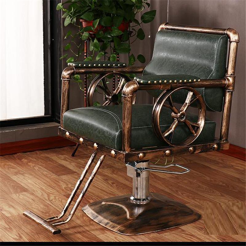 Schoonheidssalon Mueble Stoelen cappersstoelen Barbeiro Hair Sedie De Belleza Sedia Cadeira Salon Barbearia Silla парикмахерское кресло - Цвет: MODEL F