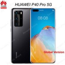 Глобальная версия Huawei P40 Pro 5G мобильного телефона 6,58 дюймов Kirin 990 Octa Core Android 10 SA/НСА в Wi-Fi жест датчик 40W