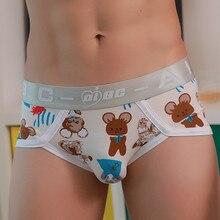 Mens Boys Underwear Cartoon Prints Soft Cotton Briefs Panties Shorts Youth Health  U-shaped Underpants ropa interior hombre 2019
