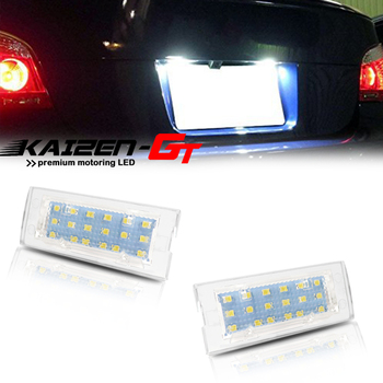 High Power Error Free Can-bus Xenon White 18-SMD LED Car License Plate Lights For 2004-2009 BMW E83 X3, For 2001-2006 E53 X5 12V image