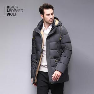 Image 2 - Blackleopardwolf 2020 חורף למטה מעיל גברים מעיל חורף גברים של מעילי אמצע אורך סלעית חם מקרית סמני Parka BL 833