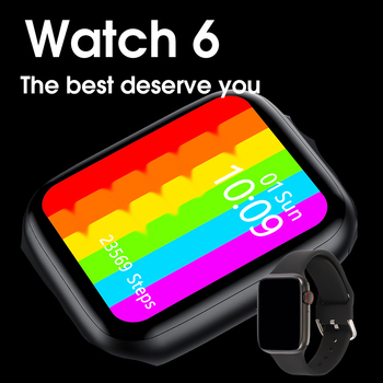 Series 6 Smart Watch 2020 IWO W26 Pro SmartWatch ECG Heart Rate Monitor Temperature Waterproof PK IWO 8 13 For Apple&Android 2