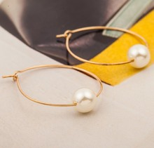 2019 New Europe And America Minimalist Personality Fashion Design Jewelry Geometric Pearl Earrings Wholesale Bestsellers