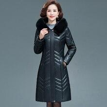 Women Fur Collar Hooded Winter Jacket Plus Size 6XL New Ladies Faux Sheepskin Parkas
