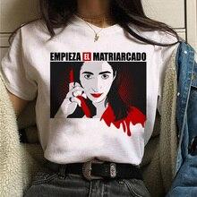 Maycaur La Casa De Papel Tshirt Money Heist Tees TV Series T Shirt Women Short S