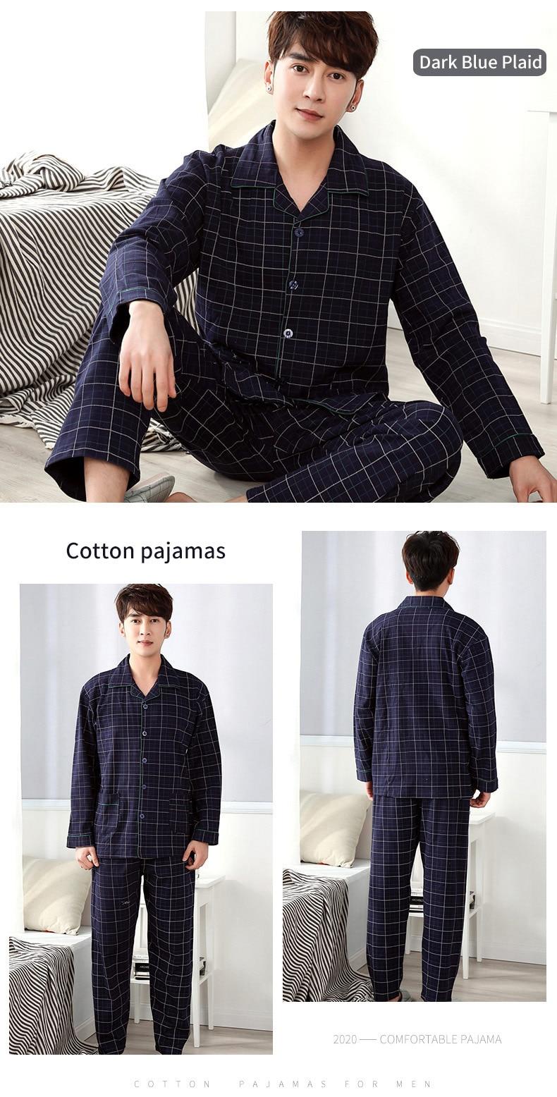 pijamas sólido xadrez pijamas do homem quente