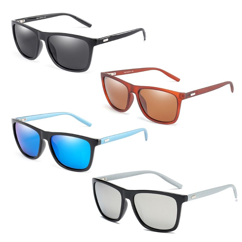 Classic Square Polarized Sunglasses Ultra Light Men Retro Sun Glasses For Women Driving