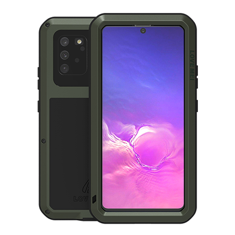Shockproof Metal Armor <font><b>Case</b></font> For <font><b>Samsung</b></font> <font><b>Galaxy</b></font> <font><b>S10</b></font> Lite <font><b>Case</b></font> <font><b>360</b></font> Waterproof Gorilla Glass Metal Cover for <font><b>Samsung</b></font> <font><b>S10</b></font> 5G Shell image