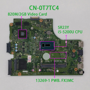 Image 1 - لديل انسبايرون 15 3543 3443 T7TC4 0T7TC4 CN 0T7TC4 i5 5200U 13269 1 FX3MC REV:A00 محمول اللوحة اللوحة اختبار
