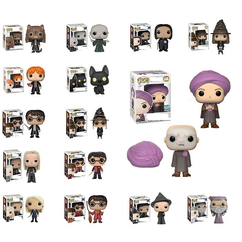 Funko Pop H P  Quirinus Quirrell Two-Face Magic School  Action Figures PVC Model Popular Birthday Boy Toys Decoration