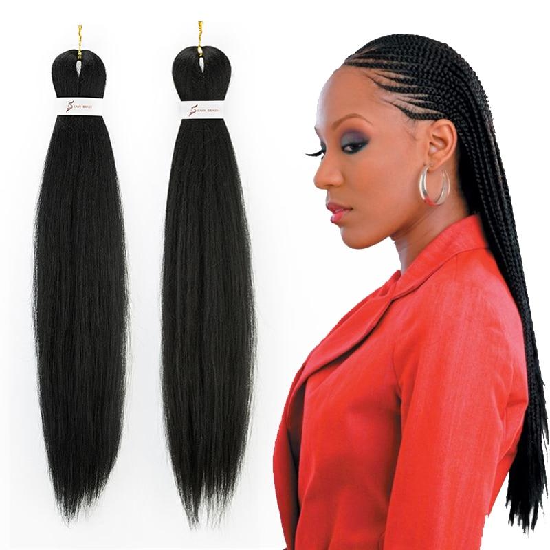 Pre-stretched EZ Braid Hair Perm Yaki Jumbo Braids Synthetic X Pression For Braids Pre Stretched Braiding Hair Bulk
