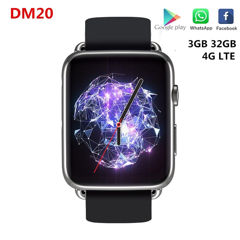Умные часы DM20 4G LTE с поддержкой SIM карты, 3 Гб ОЗУ 32 Гб ПЗУ, IPS экран 1,88 дюйма, GPS, Wi Fi, 780 мАч, литиевый аккумулятор, Смарт часы MT6739